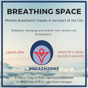 BREATHING SPACE – Breathwork to Recharge and Rebalance in the City @ Light Centre Moorgate | England | United Kingdom