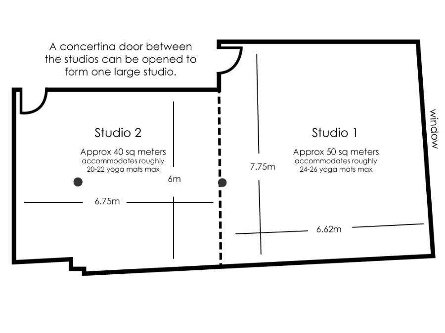 Monument Studios 1 and 2 floor plan