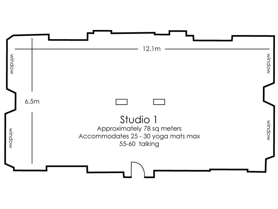 Moorgate studio 1 floor plan