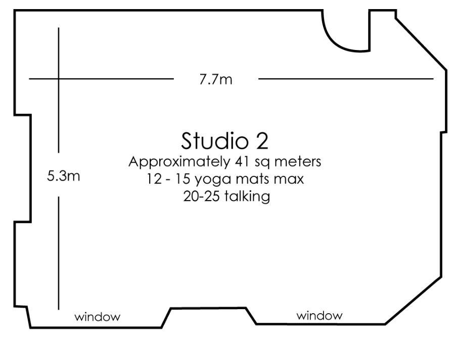 Moorgate Studio 2 floor plan